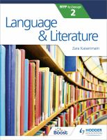 Language & literature for the IB MYP 2