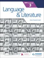 Language & literature for the IB MYP 3