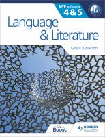 Language & literature for the IB MYP 4 & 5