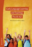 Early language learning and teaching