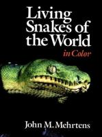 Living snakes of the world in color